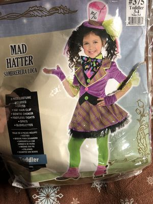 Mad hatter costume size 3-4 toddler for Sale in Los Angeles, CA