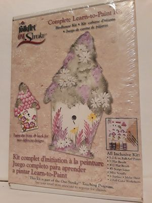 New Learn to paint Birdhouse Kit FolkArt for Sale in Lakewood, CO