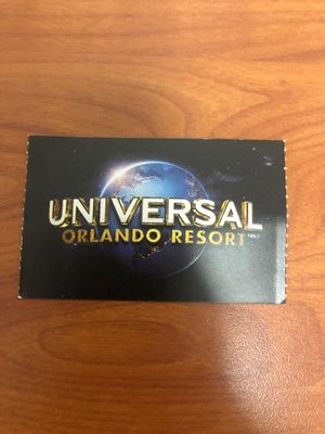 Universal one day ticket for Sale in Oviedo, FL