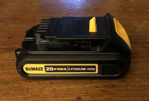 Dewalt 20v battery lithium ion for Sale in Rancho Cordova, CA