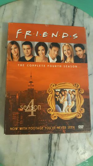 Four Disc DVD SET OF SEASON 4 BEST TV SHOW EVER FRIENDS 100% WORKS COMEDY FUN FAMILY for Sale in Scottsdale, AZ