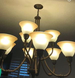 Chandelier bronze 9 light for Sale in Southwest Ranches, FL
