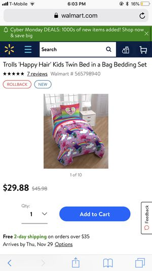 Trolls bedding set for Sale in Pittsburg, CA