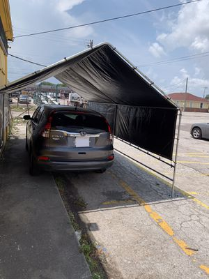 New galvanize steel canopy RV carports 12x20 heavy duty Frame and tarp included More size available for Sale in Tampa, FL
