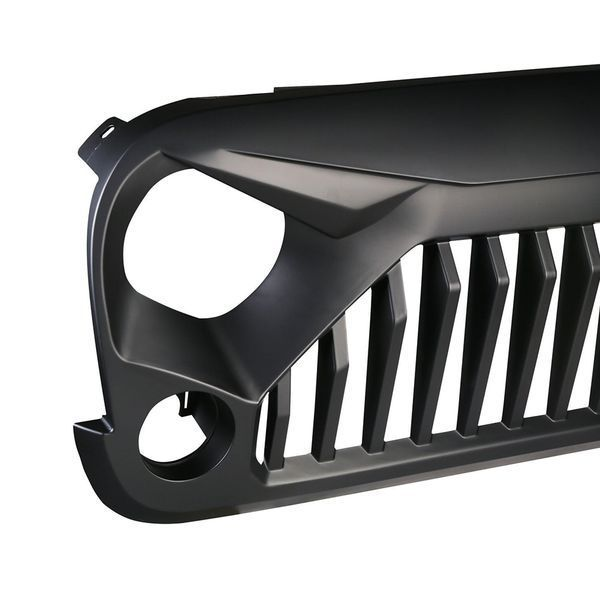 Gladiator Vader Grille Matte Black Upgrade for 2007 – 2017 Jeep Wrangler JK JKU Sahara Rubicon Sport Unlimited Front Exterior Body Part OE Replacement