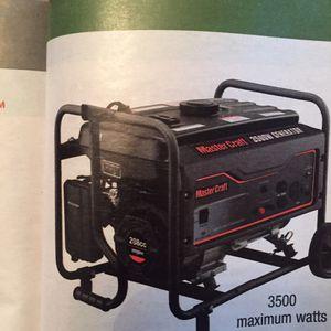 Master craft 3500 watt generator for Sale in Dearborn, MI