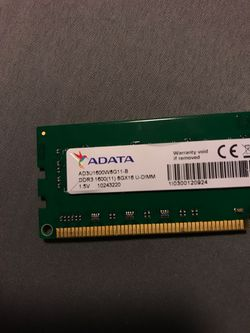(1x8gb) ddr3 1600mhz ram for Sale in Seminole,  FL