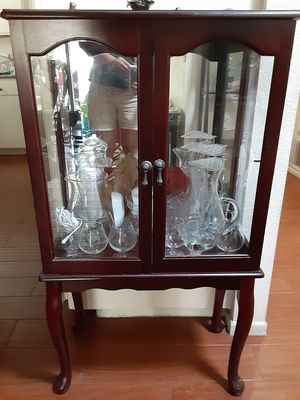 Small antique China cabinet for Sale in Anaheim, CA