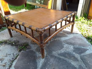 Solid wood bamboo looking coffee table good condition asking 130 or best offer for Sale in Houston, TX