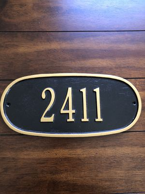 "Are These Your House Numbers??? Black Resin Address Plaque w/ Gold Trim 9"" x 5"" for Sale in Phoenix, AZ"