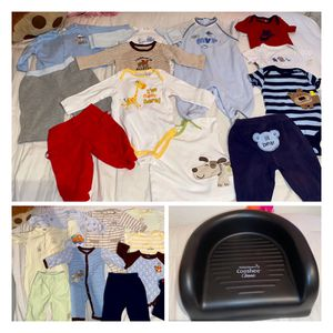 Baby Boy Clothes And Baby Chair for Sale in Alpharetta, GA