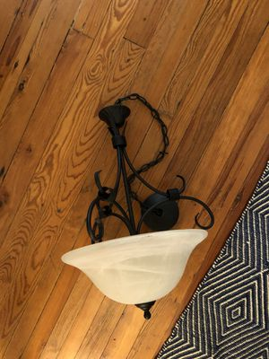Black Two-Bulb Chandelier for Sale in High Point, NC