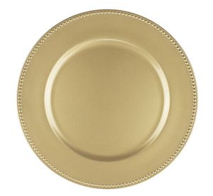 """13"""" Gold Round Charger Plate (Set of 6) for Sale in Pinecrest, FL"""