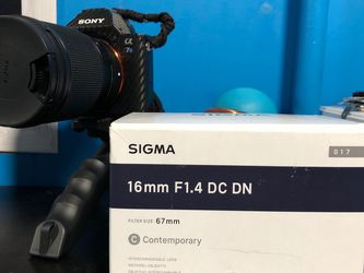 Sigma F1.4 DC DN 16mm Contemporary Lens for Sony E Mount Camera for Sale in Bowie,  MD