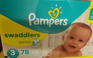 3 Case of pampers size 1 and 3 for Sale in Boston, MA