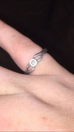 Sterling silver diamond ring for Sale in Old Fort, NC