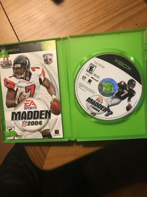 XBOX- Madden 04 for Sale in Lemont, IL