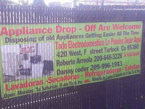 Washer and dryers repair we got Parts used and we ordered a new one for you we are located in Turlock for Sale in Turlock, CA