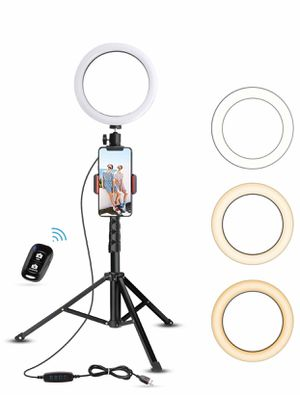 "8"" Selfie Ring light with tripod for Sale in Melbourne, FL"