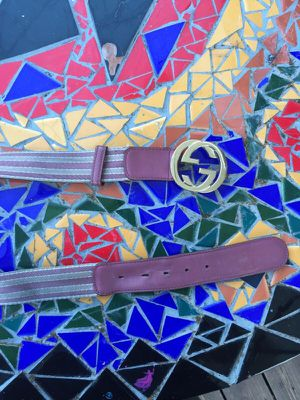 Gucci belt authentic gold buckle for Sale in Seattle, WA
