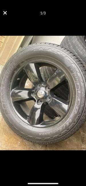 """Dodge ram 20"""" black rim's and tires for Sale in Grand Prairie, TX"""