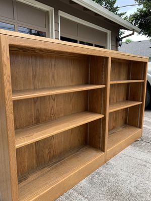 """Oak adjustable shelving 72""""x11""""x42"""" tall for Sale in North Plains, OR"""