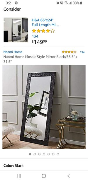 The original $130 brand new full-length mirror is now available for sale. for Sale in Queens, NY