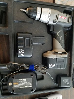 craftsman 12v drill with case for Sale in Yakima, WA