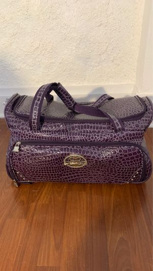 Purple alligator skin rolling bag for Sale in Tampa, FL