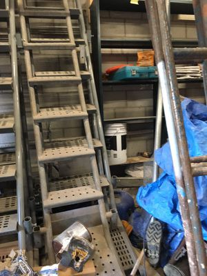 7 scaffolding ladders and side rails for Sale in Everett, MA