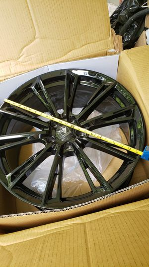 2 Black 20 inch Asanti Black Label Rims for Sale in Covington, GA