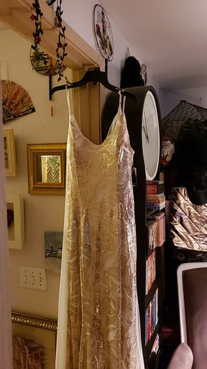 Gold and cream full length gown for Sale in Portland, OR