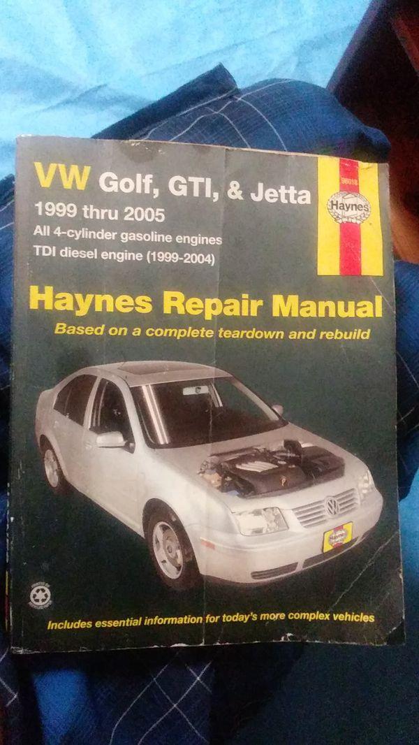 Haynes repair manual 1999 thru 2005 golf gti jetta