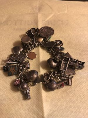 Sterling silver .925 vintage bracelet with lots of charms for Sale in Tyler, TX