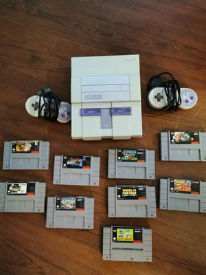 Super Nintendo with 2 controllers 9 games for Sale in San Diego, CA