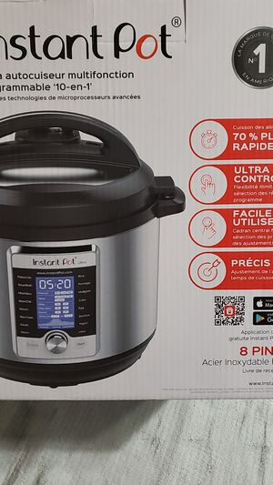 Instant Pot Ultra 10-in-1 Multi Use Programmable Pressure Cooker 8-10 Quart brushed Stainless Steel for Sale in San Bernardino, CA
