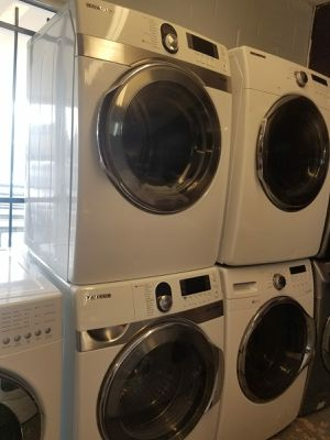 🌅SUNSET APPLIANCES🌅 🌼Samsung large capacity steam washer and steam dryer electric for Sale in Stafford, TX