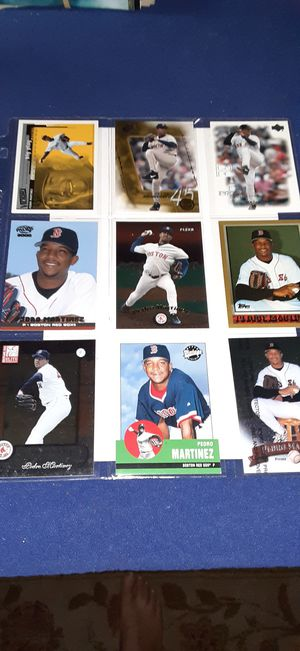 Pedro Martinez Baseball 9 card page $2 takes all for Sale in Garland, TX