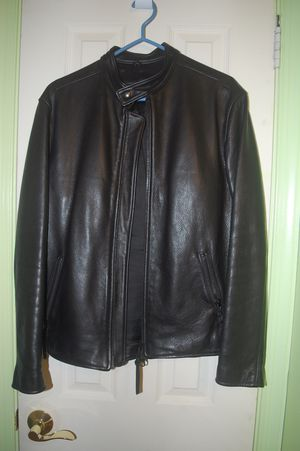 Roots Keith Leather Jacket - Black - M - $425 for Sale in Bethesda, MD