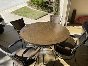 Indoor/outdoor table with 4 chairs for Sale in San Diego, CA