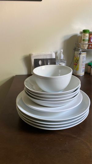Edenmark Ceramic Handcrafted White Dishes and Bowls - 10 pc for Sale in Ithaca, NY
