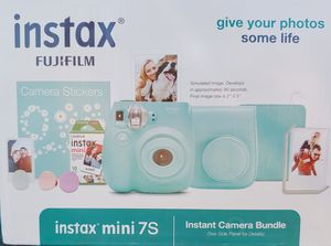 Fujifilm Instax Mini 7s Sea Foam Green Bundle (includes Camera, Case, Film, Photo Album & Photo Holders) for Sale in Phoenix, AZ