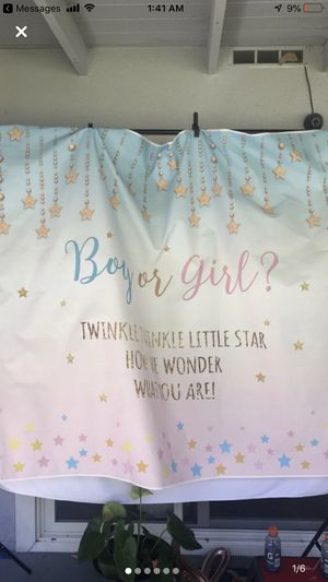 Gender Reveal Banner and Other Decor for Sale in East Los Angeles, CA