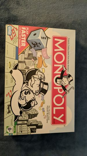 Monopoly board game w/speed dice for Sale in Virginia Beach, VA