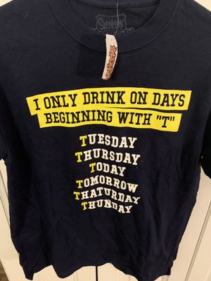 Funny drinking T-shirt medium —NEW with tags for Sale in Sunrise, FL