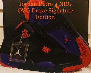 "Jordan Retro 4 NRG OVO Drake Signature Edition ""Raptors"" for Sale in Land O Lakes, FL"