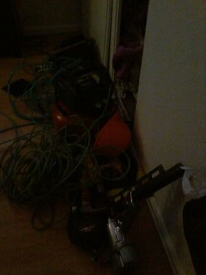 1 Nail gun, 2 hoses, and a portable compressor, yoyo,, and harnest and gold michael khors watch for Sale in North Las Vegas, NV