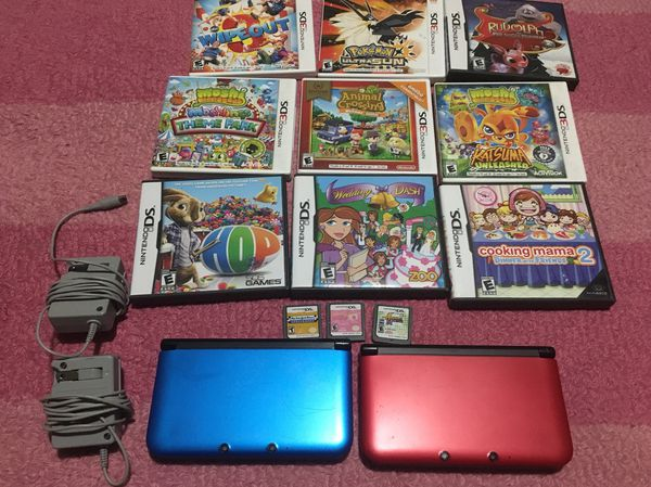 Two Nintendo 3DS XL with games and charger $180 OBO