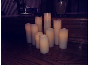 ONE WORLD MAGIC 9 PIECE FLAMELESS BATTERY OPERATED CANDLES, VANILLA SCENTED for Sale in Ocoee, FL