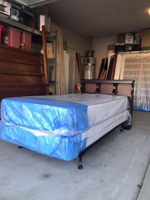 Twin Bed with New Mattresses for Sale in Lindsay, CA